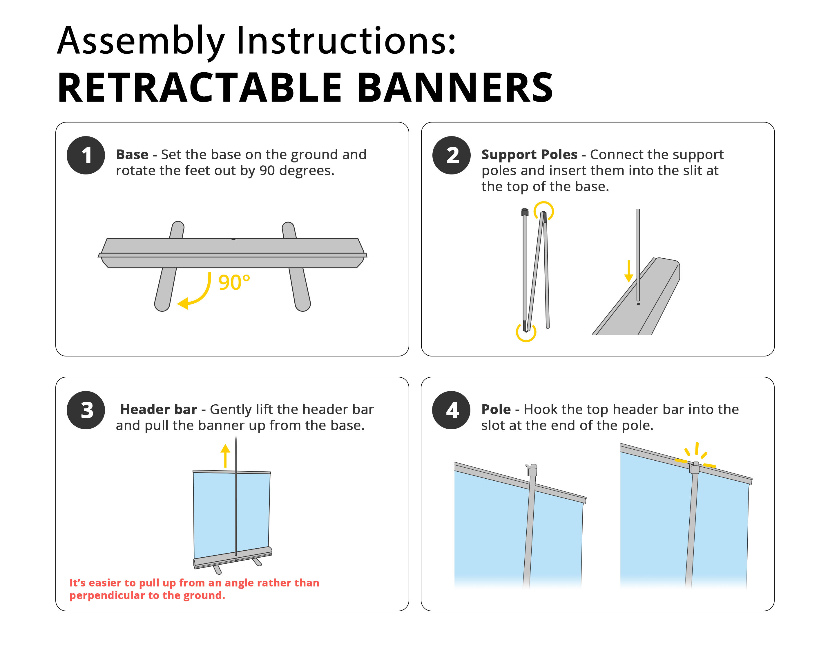 Retractable Banner Printing Guide