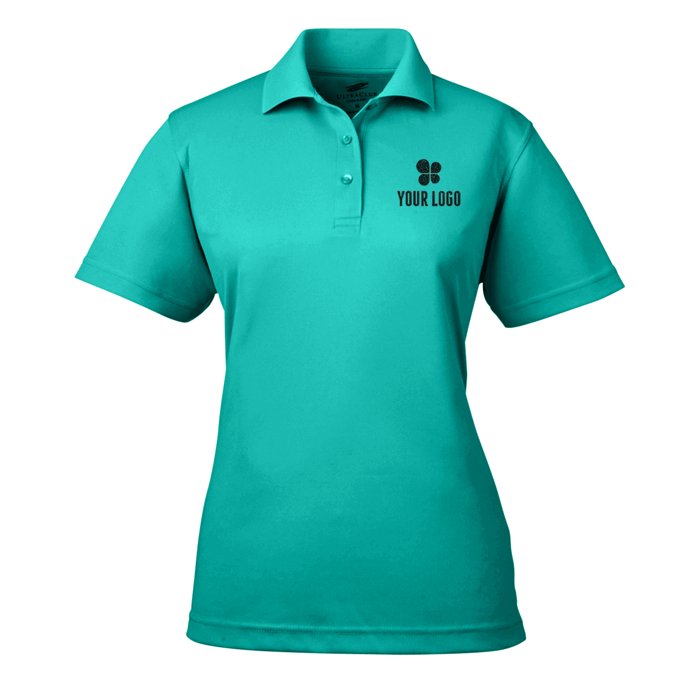 UltraClub Ladies' Cool and Dry Mesh Pique Polo