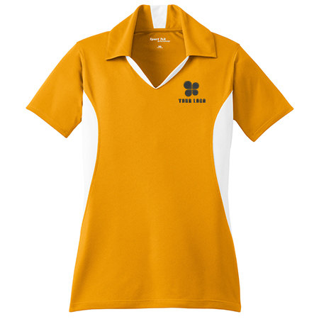 Ladies' Side Blocked Micropique Sport-Wick&#174 Polo Shirt
