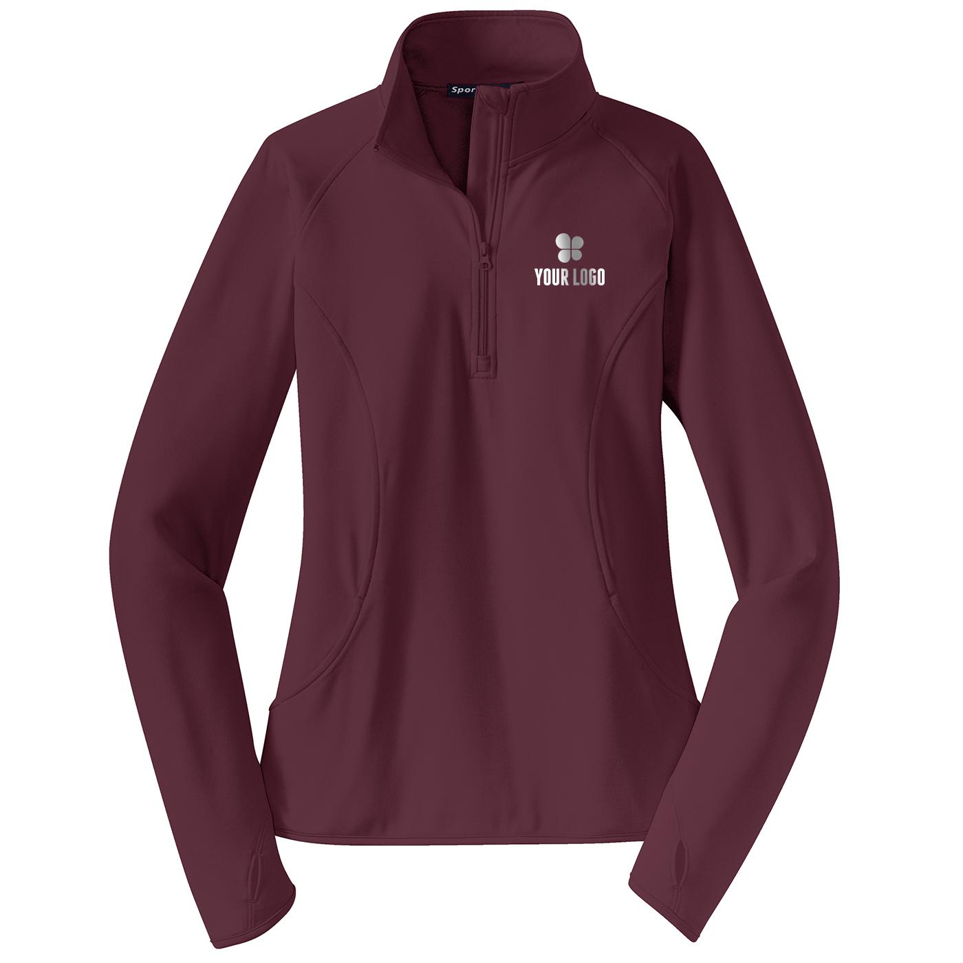 Ladies Sport-Wick® Stretch 1/2-Zip Pullover