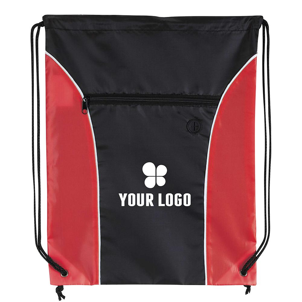 Drawstring backpacks with front pocket