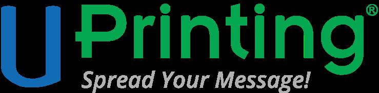UPrinting Custom Printing logo, links to UPrinting homepage