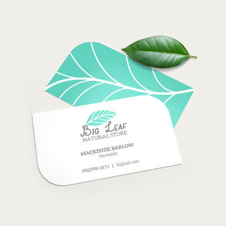 leaf business card maker