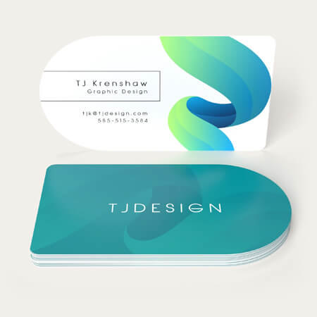 make circle business cards