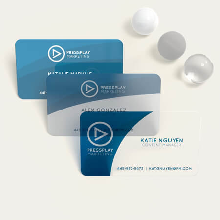 create plastic business cards