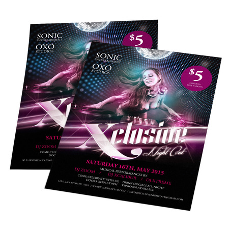 Quality Club Flyers Printing - Uprinting.Com