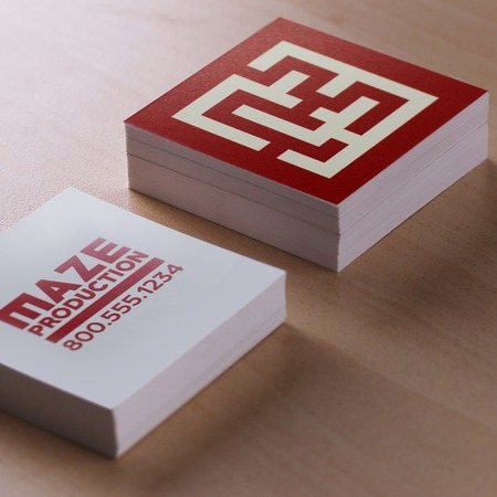 Square business card printing optional rounded corners uprinting square business cards reheart Image collections