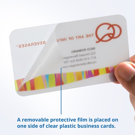 Plastic Business Cards with Protective Film