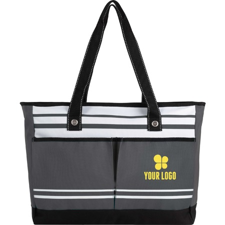 Zippered, two-pocket totes