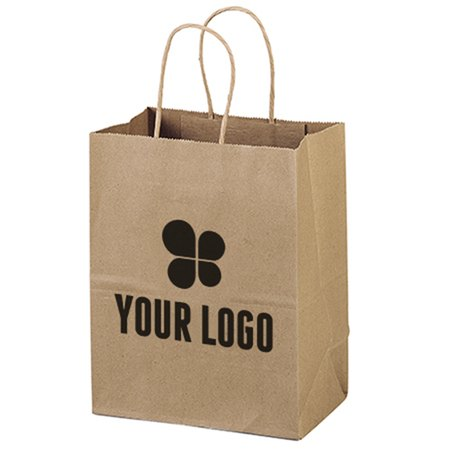 7-3/4 x 9-3/4 Recycled Kraft Paper Bag
