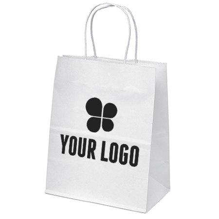 7-3/4 x 9-3/4 White Paper Bag