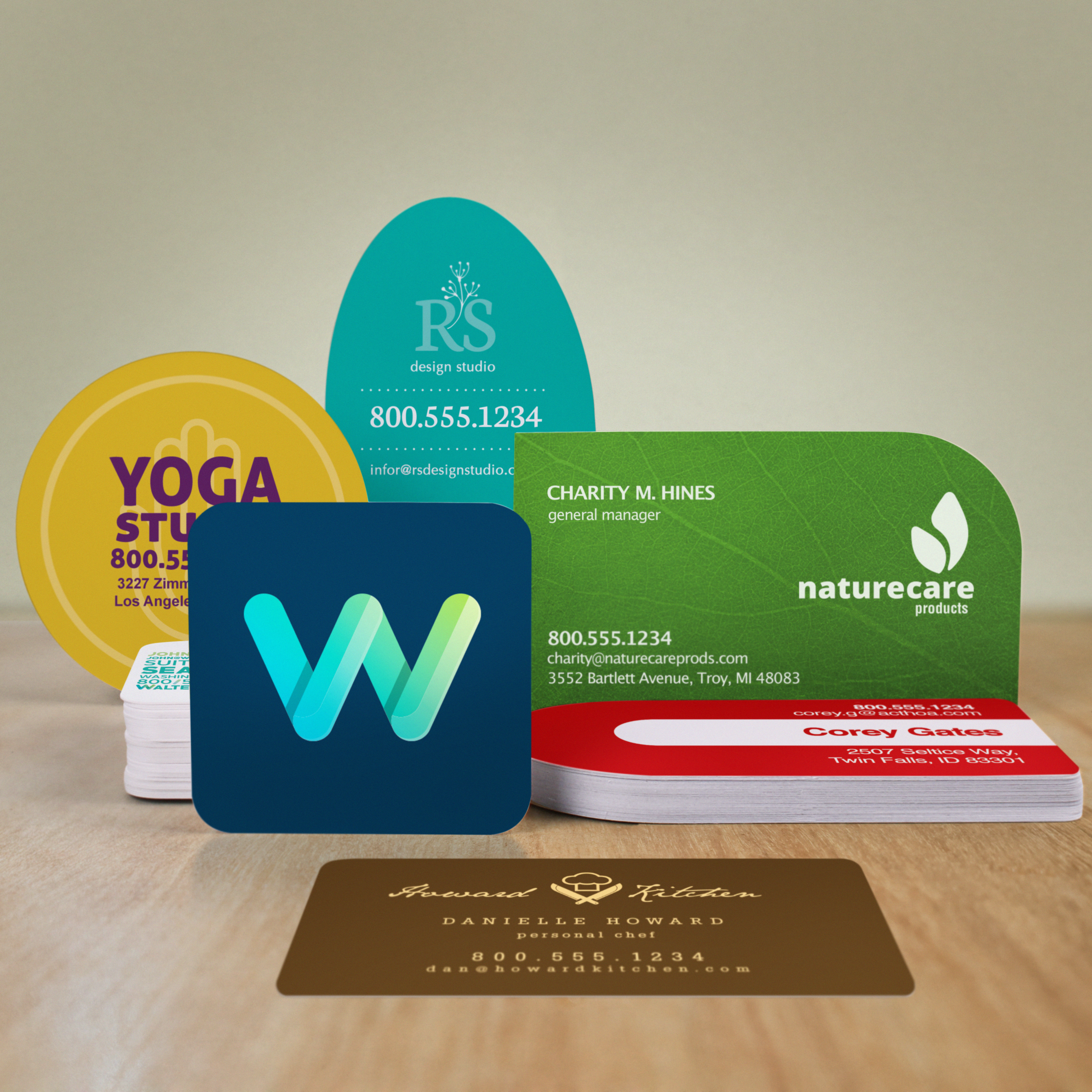 Die-Cut Business Card Printing | UPrinting