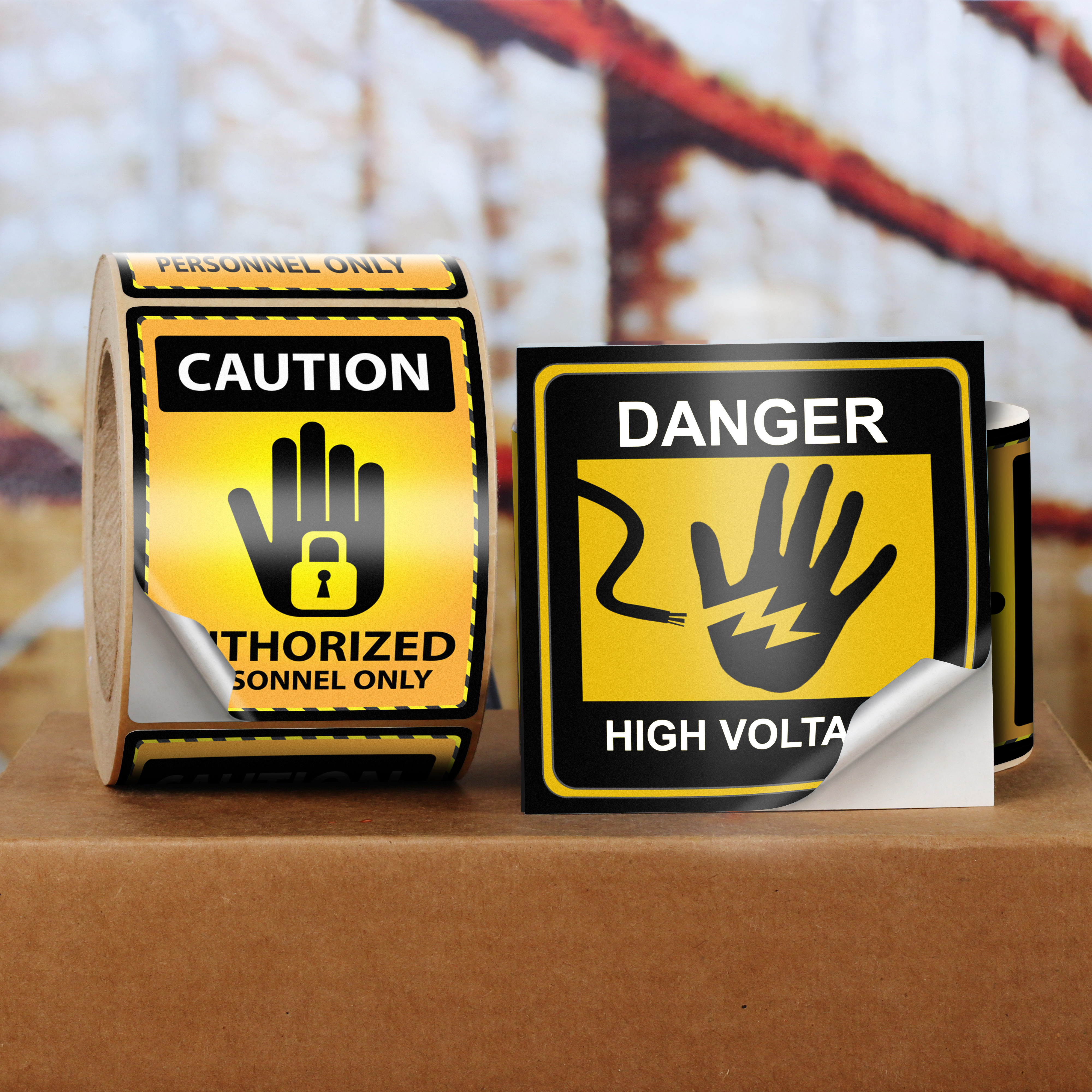 Custom warning labels uprinting biocorpaavc