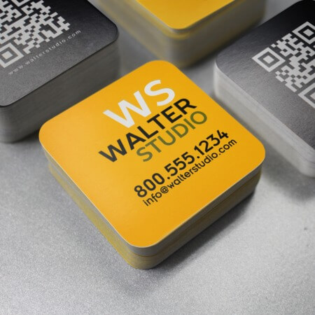 Uprinting high quality custom online printing services square rounded corner business cards reheart Choice Image