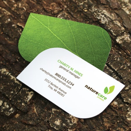 Uprinting high quality custom online printing services leaf business cards reheart Choice Image