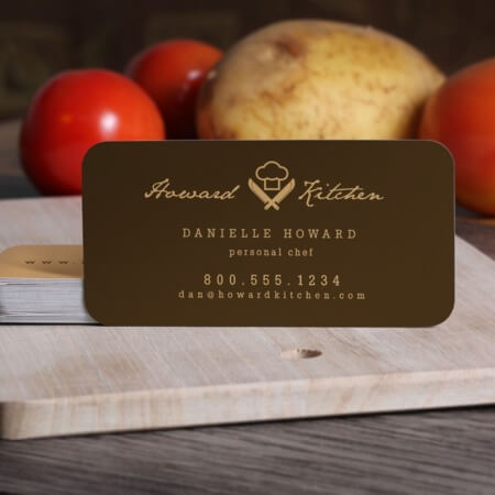 Slim Rounded Corner Business Cards
