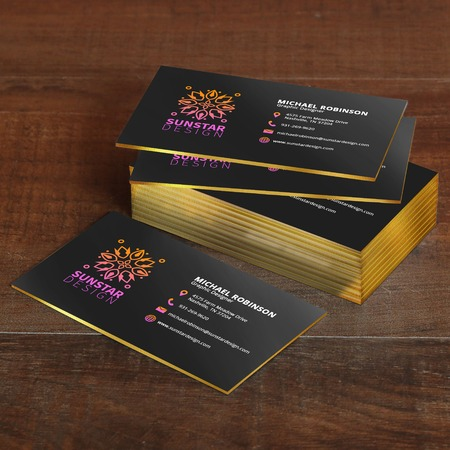 Uprinting high quality custom online printing services painted edge business card printing reheart Images